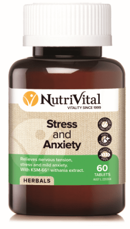 Nutrivital Strees and Anxiety Tablets at Go Vita