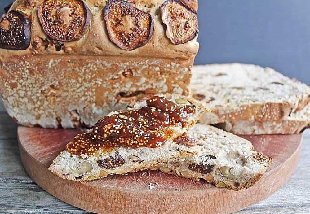 Fig Bread with an Easy Fig Jam